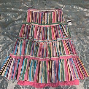 Tommy Hilfiger Paneled Stripped Midi-Skirt